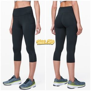 Lululemon Fast and Free Crop II 19""